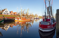 Greetsiel, рыбацкие лодки Стоковое фото RF