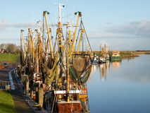 Greetsiel, рыбацкие лодки Стоковая Фотография RF