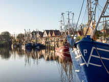 Greetsiel, рыбацкие лодки Стоковые Изображения