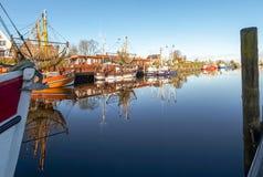 Greetsiel, рыбацкие лодки Стоковое Фото