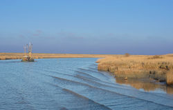 Greetsiel,East Frisia,North Sea,Wadden Sea,Germany Royalty Free Stock Image