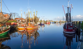 Greetsiel, fishing boats. Royalty Free Stock Photography