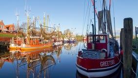 Greetsiel, fishing boats. Royalty Free Stock Image