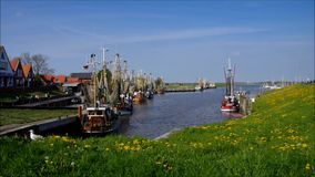 Greetsiel harbour stock video