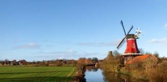 Greetsiel, traditional Windmill Stock Image