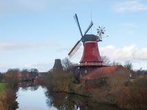 Greetsiel, traditional Windmill Royalty Free Stock Photo