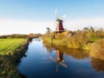 Greetsiel, traditionelle niederländische Windmühle Stockfoto