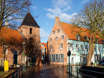 Greetsiel, typical houses of the Village Royalty Free Stock Photo