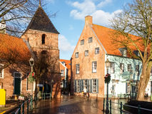 Greetsiel, typical houses of the Village Royalty Free Stock Images