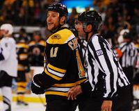 Greg Campbell, Boston Bruins en avant Images stock