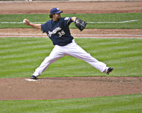 Greg Gagne pitching Royalty Free Stock Photo
