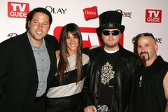 Greg Grunberg,Ben Moody,Missy Peregrym. Greg Grunberg and Missy Peregrym with Ben Moody and Michael Fish Herring at the TV Guide Emmy After Party. Social Royalty Free Stock Photos