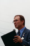 Greg Hartsill, Iowa House, speaks at the Save Our Cross Rally, Knoxville, Iowa royalty free stock photo