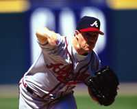 Greg Maddux Atlanta Braves Stock Image