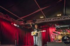 Greg Rzab que joga a guitarra-baixo Foto de Stock Royalty Free