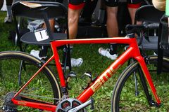 Greg van avermaet's bike at Montreal Grand Prix Cycliste on September 9 2017 Royalty Free Stock Photo