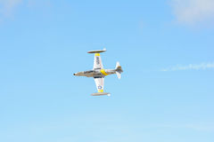 Greg Wired Colyer est voler Lockheed T-33 photo stock