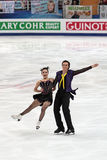 Greg Zuerlein and Madison Chock. MOSCOW, RUSSIA - APR 30: World championship on figure skating 2011. Greg Zuerlein and Madison Chock in pair ice dance. Palace of Royalty Free Stock Photos