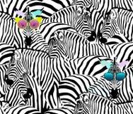 Gregge astratto delle zebre, modello senza cuciture animale dell'illustrazione royalty illustrazione gratis