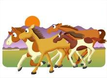 Gregge del cavallo illustrazione di stock