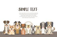 Gregge del fondo dei cani con il testo del campione illustrazione vettoriale