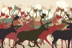 Gregge della renna royalty illustrazione gratis