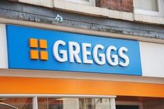 Greggs Bäcker lizenzfreies stockbild
