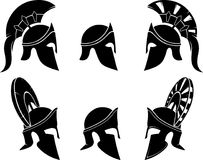 Grego Armor Helmet Collection ilustração royalty free