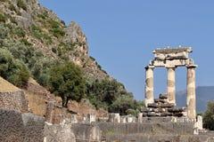Grego rural Delphi Temple Foto de Stock Royalty Free