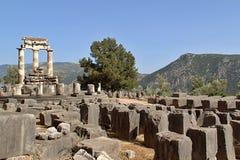 Grego rural Delphi Temple Fotografia de Stock