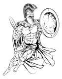 Grego Spartan Warrior Fotografia de Stock