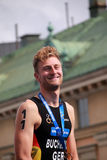 Gregor Buchholz durante a cerimônia premiada Imagens de Stock
