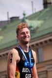 Gregor Buchholz während der prize Zeremonie Stockbilder