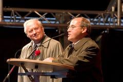 Gregor Gysi e Oskar Lafontaine Imagem de Stock Royalty Free