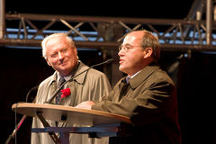 Gregor Gysi and Oskar Lafontaine Royalty Free Stock Image
