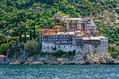 Gregoriou kloster, Mount Athos Arkivbild