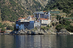 Gregoriou monastery,Mount Athos , Halkidiki, Greece Stock Photos
