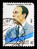 Gregoris Lambrakis (1912-1963), serie личностей, около 1990 Стоковые Фото