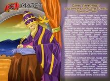 Gregorius de Santo 1 cristiano idea2 del calendario Imagen de archivo libre de regalías