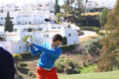 Gregory Bourdy am Andalusien-Golf geöffnet, Marbella Lizenzfreies Stockfoto