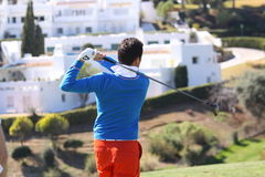Gregory Bourdy au golf d'Andalousie ouvert, Marbella Images stock