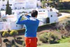 Gregory Bourdy bij Andalucia Open Golf, Marbella Stock Afbeeldingen