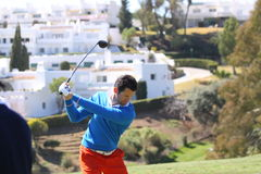 Gregory Bourdy no golfe aberto, Marbella de Andalucia Foto de Stock Royalty Free