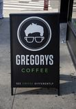 Gregory Coffee Shop à New York City, Etats-Unis photographie stock