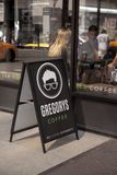 Gregory Coffee Shop in New York, U.S.A. fotografia stock libera da diritti