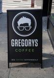 Gregory Coffee Shop in New York, U.S.A. fotografia stock