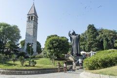 Gregory de la estatua de Nin o de Grgur Ninski en la fractura Croacia fotografía de archivo