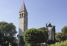 Gregory della statua di Nin e della torretta di Bell nella spaccatura Immagini Stock