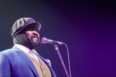 Gregory Porter no jazz 2015 de Kaunas Foto de Stock