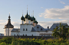 Gregory the Theologian's church and Grigoriev tower in Kremlin in Rostov The Great Royalty Free Stock Image